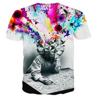 New Fashion T-shirt Men/Women Short Sleeve 3d T-shirt Print Thinker Art Men Summer T shirt Tops Tees