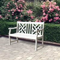 Bradley V1631 4-foot Outdoor White Wood Garden Bench