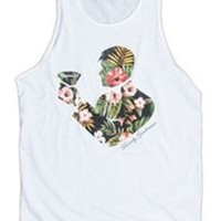 Rowdy Gentleman Tropical Toasting Man Men's Tank TT044-WHT