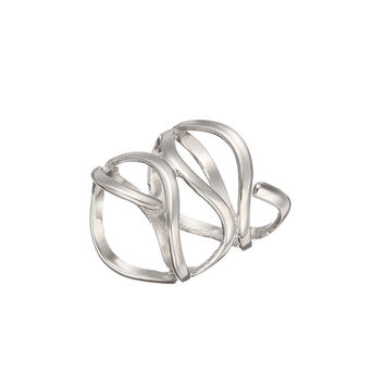 Wrapped Cage Ring in Silver