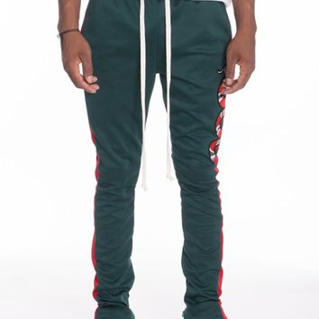 Snake Patch Track Pants in Green