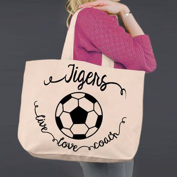 Soccer Coach | Personalized Canvas Tote Bag