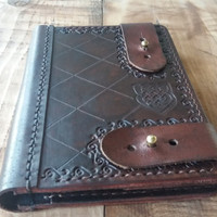 Steampunk Leather Passport Cover Brown  passport holder |gift for couple|gift for bride| leather passport wallet|bridesmaid gift
