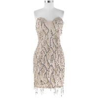 Gold Sequins Short Formal Prom Party Dress