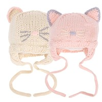 Baby Hat Caps Autumn Winter 4 -18 Months Cotton Beanie Cap Toddler Baby Girls Boys Knitted Hats Photo Props