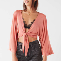 UO Dinah Tie Wrap Top | Urban Outfitters