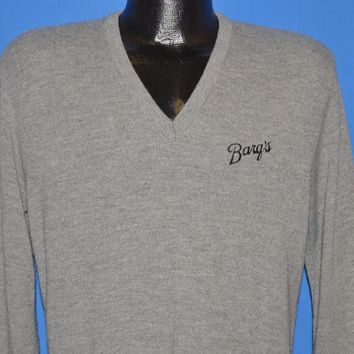 80s Barq's Root Beer V Neck Sweater Large