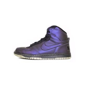 NIKE big high LE HOH abyss foamposite shoes -375665-501 - iridescent purple + black