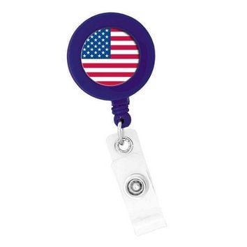 Badge Holder Nurses Retractable American Flag Think Medical 01807