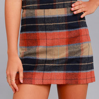 Mad for Plaid Beige Plaid Mini Skirt