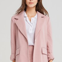 Lucy One Button Simple Jacket Discover the latest fashion trends online at storets.com