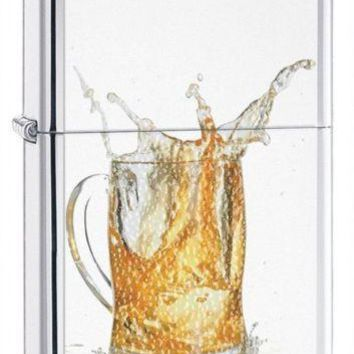 Quinch Your Thirst  Zippo  Splash High Polish Chrome Cigarette Lighter