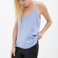 FOREVER 21 Crisscross Back Cami Periwinkle