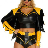 Black and Yellow Batwoman Leather Costume