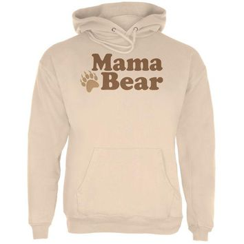 LMFCY8 Mothers Day - Mama Bear Sand Adult Hoodie