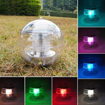 Waterproof 2V 60mA Solar Power Colorful LED Floating Ball Light for Outdoor Garden Pond Path Landscape Night Lights