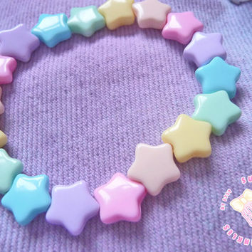 Pastel star bracelet by SugarCoatedSprinkles on Etsy