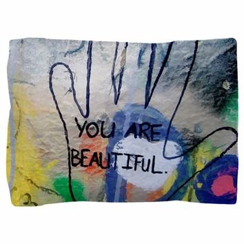 YOU ARE BEAUTIFUL GRAFFITI PILLOW SHAM