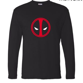 brand clothing anime Deadpool men long sleeve t shirt 2017 new autumn 100% cotton high quality casual hip hop man o-neck t-shirt