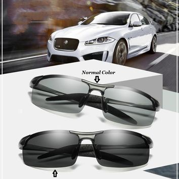 Change Color Photochromic Sunglasses Men Women Titanium polarized Sun Glasses Chameleon Anti-glare Driving