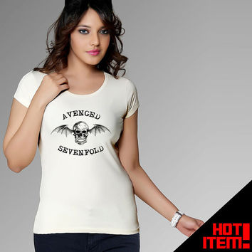White Avenged Sevenfold Skull Design Tshirt For Men and Women With xs / s / m / l / xl / 2xL / 3XL Size