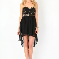 Missguided - Herrys Strapless Studded Asymmetric Dress