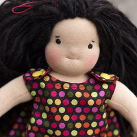 "Waldorf doll - Traditional dressable Waldorf Doll 35 cm / 13.8"" in a funky dress"