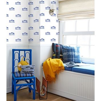 Sardines Wallpaper by Clare V., Blue
