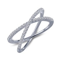 Lafonn Sterling Silver .39cttw Criss-crossed CZ Ring