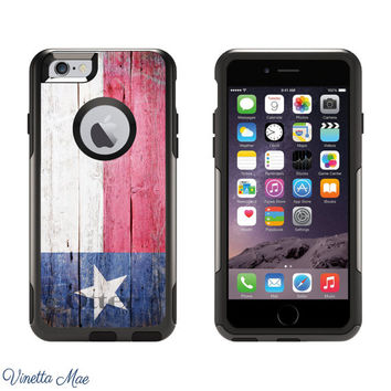 iPhone Otterbox Case for iPhone 5, 5s, 6, 6 Plus Texas State Flag University of Texas TX State Pride Longhorns Home Love Texas Gift 1168