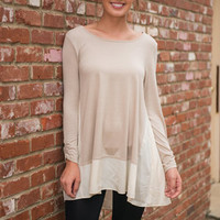 Naturally Me Tunic, Beige