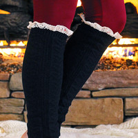 Lace Trim Leg Warmers