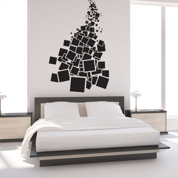 Vinyl Wall Decal Sticker Falling Squares #1304