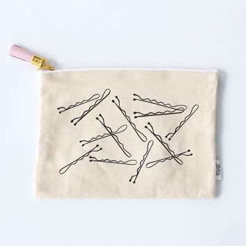 Bobby Pins Zippered Pouch