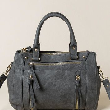 Meryl Distressed Satchel