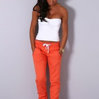 Dodger Orange Tracksuit Pants | Pink Boutique