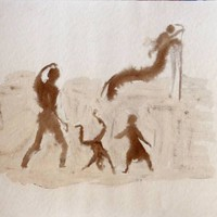 Saatchi Art: Playground Drawing by Frederic Belaubre