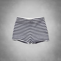 Striped High Waist Tap Short