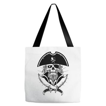 skull with beard Tote Bags