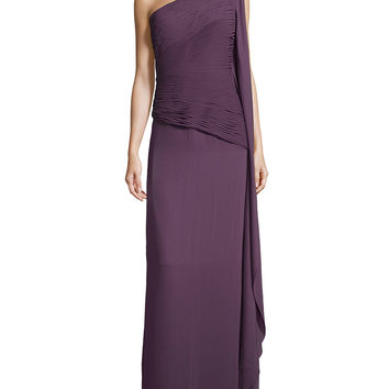 Ruched Georgette Gown,