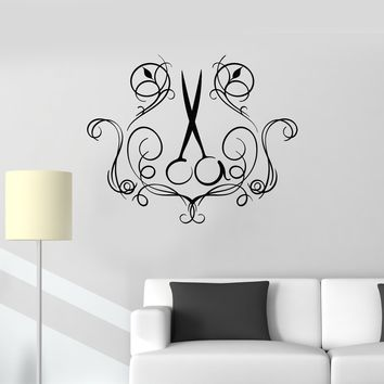 Vinyl Wall Decal Scissors Hair Salon Decoration Art Decor Hairdressing Stickers Mural (ig5628)