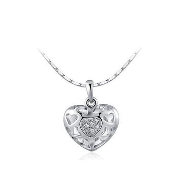 Stylish New Arrival Gift Shiny Jewelry Crystal Hollow Out Necklace [9281903684]