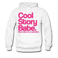 Cool story babe jersey shore Hoodie for Adults in Black and white