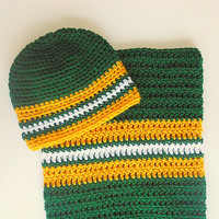 Green Baby Bunting Gold Infant Hat Newborn Boy White Sleep Sack  Girl Cocoon Set Fall Pod 0 - 6 Months Winter  Cap Football  Beanie