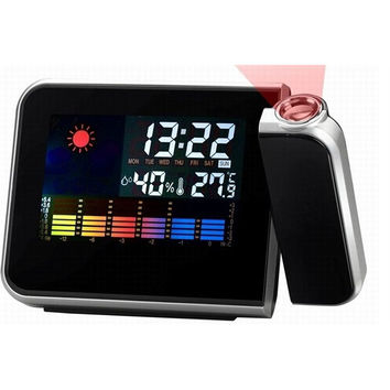 LED Weather Station Projector Alarm Clock Calendar