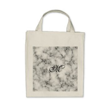 Marble Stone Grocery Tote Bag