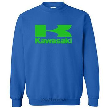 Kawasaki logo hoodies cotton sweatshirt present luxury hip hop style