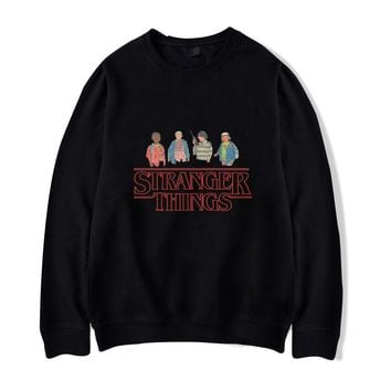 New Stranger Things hoodies Men Women Cotton Funny Stranger Things print Clothing Capless Sweatshirts