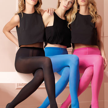 Sophie 70 Den Semi-Opaque Color Tights (A to O)