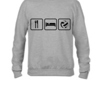 Eat Sleep Volleyball - Crewneck Sweatshirt
